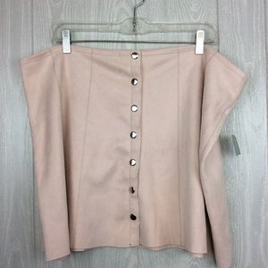 NWT Pink Soft Feel Skirt PLUS SIZE 2X
